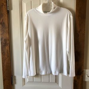 Holiday Editions White Snow Flake Turtle Neck - Lg